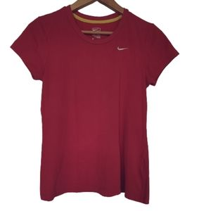 Women's Nike pink performance T-shirt Short sleeve